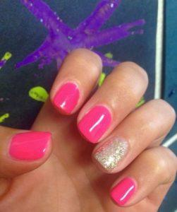 shellac bold pink glitter