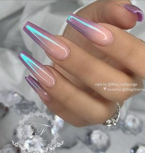 ombre coffin iridescent