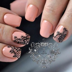 nude pink black lacey