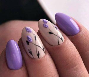 dainty floral lavender