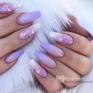 ombre glitz lavender