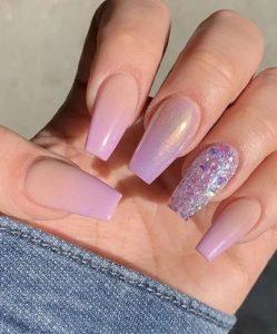 nude lavender ombre