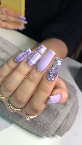 plaid glitter lavender