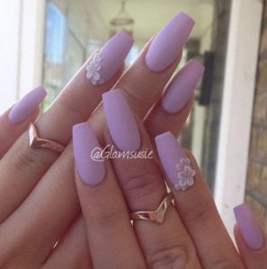 matte lavender flower