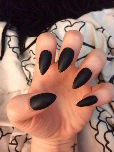 edgy black mattified