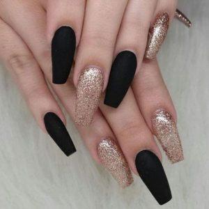 black gold coffin acrylic glitter