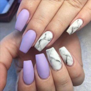 white marble lavender matte