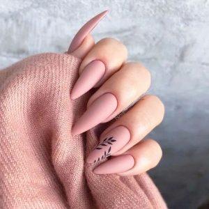 nude pink stiletto design