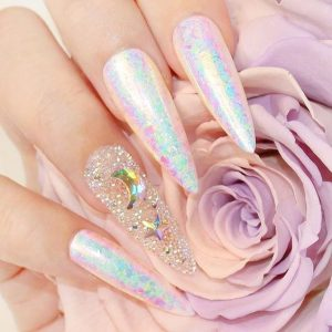 stiletto moons holographic