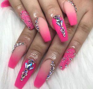 pink jewel ombre neon