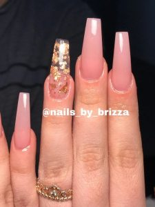 flaked clear nude pink