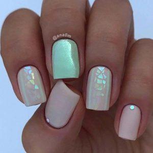 neutral mint iridescent