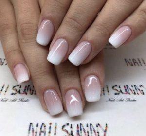 french gel ombre fade
