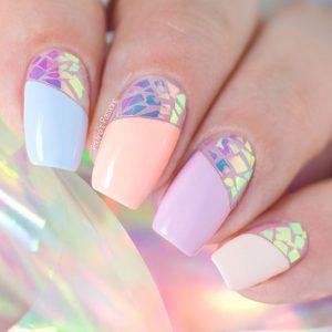 rainbow pastel iridescent