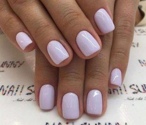 shellac pastel lilac