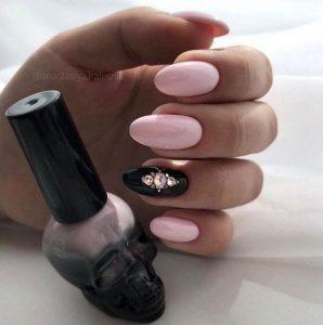 black accent jewel pink