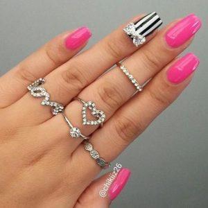 stripe bow jewels