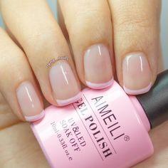 pastel pink tip french