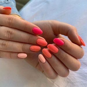 shellac pink orange