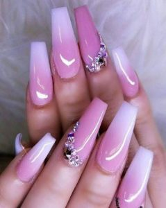 ombre french pink jewel