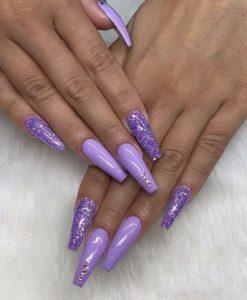 glitter jewels lavender