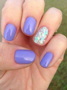 shellac bright lavender glitter iridescent