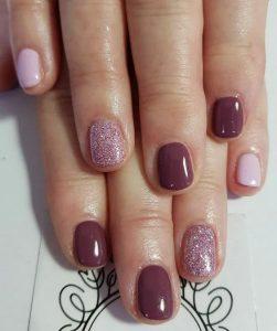shellac purple glitter