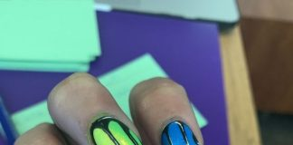 neon rainbow black drip