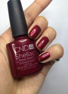 shellac deep red