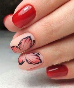 matte nude red flutter