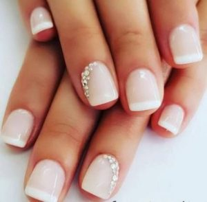 accent stone french tips