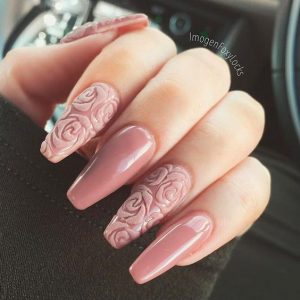 nude pink roses 3d