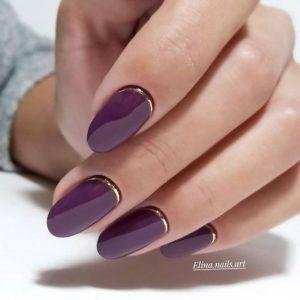 shellac purple gold cuticle
