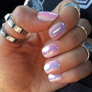short iridescent pearl