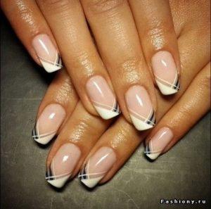 dainty stripe french tip