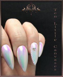 3d swirl iridescent