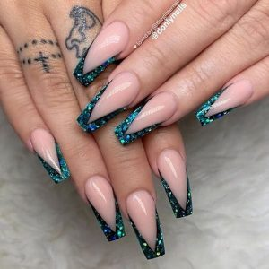 tip glitter acrylics