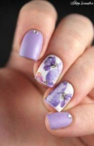 artistic floral lavender