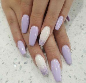 lavender ombre white