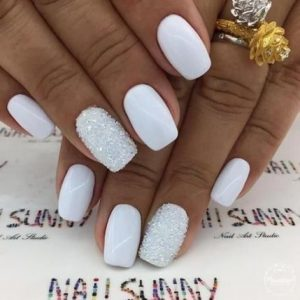 shellac glam white