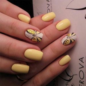 butterfly accent yellow