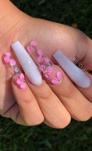 clear acrylic 3d floral