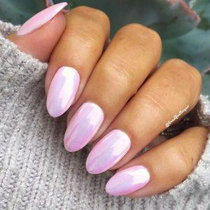 chrome pink pastel shine