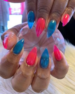 pink and blue jellies
