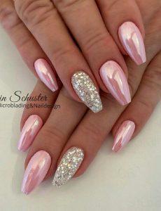 light pink chrome glitter