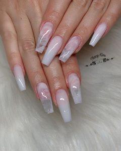 white design subtle clear nails