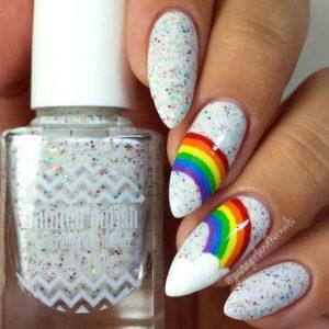 rainbow in sky glitter