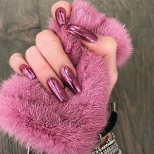 coffin mauve pink chrome