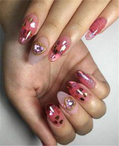 heart glitz pink jelly