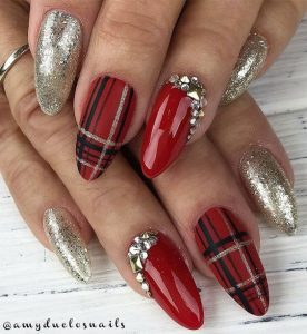 holiday themed plaid